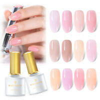 6ml BORN PRETTY Jelly Pink UV Gel Nail Polish Semi-transparent Soak Off Varnish