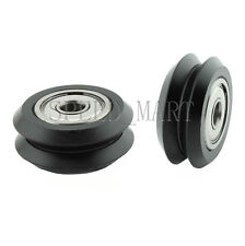 2x POM Dual V Groove Idler Pulley Linear Extrusion Sheave With bearing