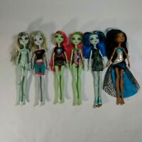 Mattel Monster High Dolls - Lot of 6 Mostly Clothed with Misc Accessories
