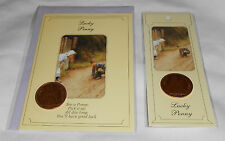 Luck Peny New Greeting Card/Bookmark Set - England Queen Elizabeth II - 1965