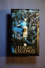 League of Legends Gamer Light Switch Cover man cave room decor gaming video game