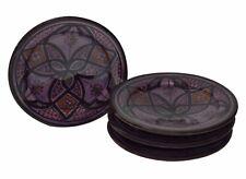 Moroccan Serving Ceramic Plates Handmade Appetizer Tapas Serving Set Of Four