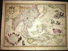 Ortelius - Indiae Orientalis - 1588 - Original - South East Asia / Australia