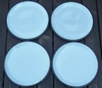 SET of 4  DENBY BLACK  PEPPER  DINNER PLATES  10 5/8 inches  across top