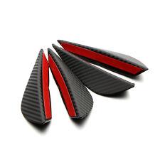 Front Bumper Lip Splitter Fins Body Spoiler Canard Valence Chin 4X Universal