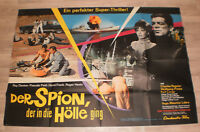 A0 Filmplakat  DER SPION DER IN DER HÖLLE  GING, RAY DANTON,PASCALE PELIT