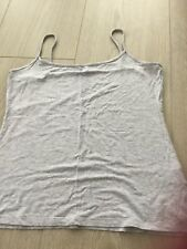 Femme Marks and Spencers gris à bretelles T Shirt Taille 12