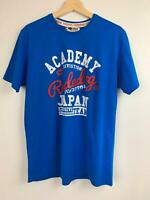 Rude Dog Men's Academy Japan Blue Cotton T-shirt L A14