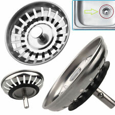2x Kitchen Stainless Steel Sink Strainer Waste Plug Drain Stopper Filter Basket