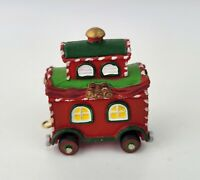 CABOOSE TRAIN CAR Department 56 North Star Commuter Train Station North Pole