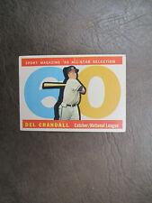 1960 Topps Del Crandall  high number baseball card # 568  Vintage  Original