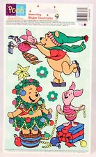 10 In Sheet ~Winnie the Pooh~ Christmas Window Clings. 1 X 6 In One