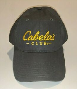 Cabela's Club - Cap - Gray with Yellow Embroidery - Strap Adjustable - RN 56835