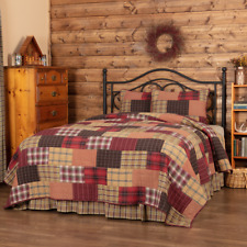 Wyatt King Quilt 3 Pc Set-Lodge/Cabin Patchwork Quilt with 2 King Size Shams