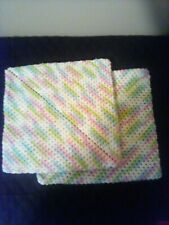 """New listing Hand crochet double thick cotton pot holders. 8.5"""" square"""