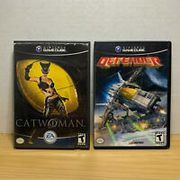 Catwoman & Defender (Nintendo GameCube) LOT! IN BOX! TESTED & CLEANED!