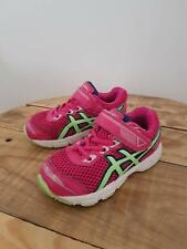 Baby Toddler Girls Genuine ASICS Leather Sneakers Pink Runners Size 8 Lace & Str