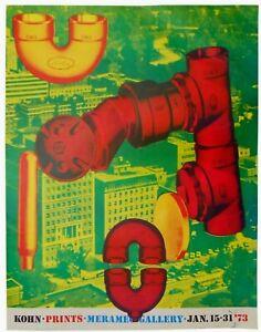 'KOHN PRINTS MARAMEC GALLERY JAN '73' ST. LOUIS MO CC GALLERY EXHIBITION POSTER
