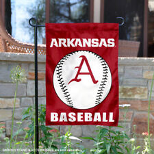 Arkansas Razorbacks Baseball Garden Flag