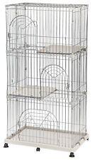 Iris Wire Pet Cage/Cat Playpen 3-Tier Gray