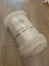 Catherine Lansfield Chunky Knitted Throw 125 x 150cm Natural