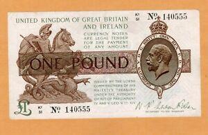 UK Great Britain 1923 United Kingdom  One Pound.