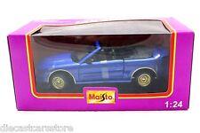 Maisto Mustang GT Convertible Car Club Blue w Gold Rims 1/24 Diecast Car