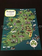 Ireland - A Place With Something For Everyone -Colorful Irish Shamrock Map Print