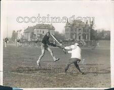 1929 Lacrosse Game 1920s Castle Point Field Hoboken New Jersey Press Photo