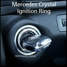 Crystal Stone Ignition Key Hole Cover Insert Trim Sticker Bling Mercedes Benz