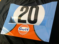 Porsche 917 Inspired GULF Racing Team hood LeMans 24Hour Race Aluminum McQueen