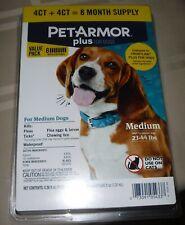 Pet Armor Plus Flea & Tick Prevention 8 Treatments! Medium Dog 23-44lbs