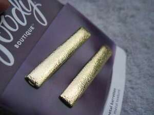 2 Goody Boutique Textured Metal Hair Barrettes Secure Back Clips Stay Tight Gold