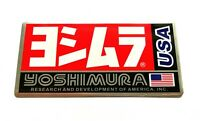 YOSHIMURA USA 3D HEATPROOF EXHAUST BADGE STICKER GRAPHIC DECAL SILENCER METAL