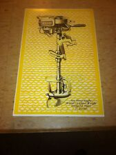 Vintage Sea Horse Outboard Engine Advertisement Poster Man Cave Gift Art Decor