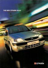 Citroen Saxo 1999-2000 UK Market Launch 8pp Sales Brochure