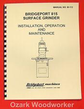 BRIDGEPORT 815 Surface Grinder Operation, Parts, and Maintenance Manual 0073