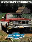 1980 Chevrolet Pickup Truck USA Original Sales Brochure - Silverado C/K Chevy