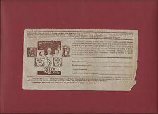 Cedola Iscrizione Corso Chiave del successo nella Vita Istituto Luce 1930