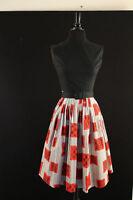 VINTAGE 1950'S DEADSTOCK BLACK & RED DRESS SZ 0