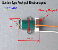 DC 5V-6V Push Pull Type Mini Solenoid Electromagnet DC Solenoid Suction Type Rod