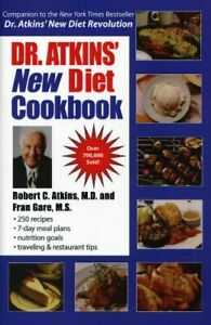 Dr Atkins' New Diet Cookbook by Gare, Fran M.S. Hardback Book The Cheap Fast
