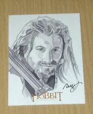 2014 Cryptozoic Hobbit Unexpected Journey LOTR SKETCH card Robert Hendrickson