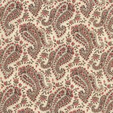 Pink, Taupe, Cream Floral Paisley, Paris Rendezvous Timeless, 1/2 Yard Cut