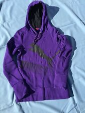PUMA PURPLE Athletic Hoodie Sweatshirt Jacket Coat Running Yoga WOMENS Sz SMALL