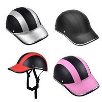 Motorcycle Leather Helmets Bike Scooter Half Open Face Protective Helmet Ha A6N7