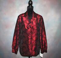 🎄 NWT! Sag Harbor Blazer Women's Medium w/ Attached Cami Holiday Velvet Jacket