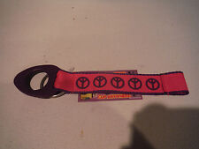 NWT Water Bottle Holder - Clip to Backpack Bag - Pink w Peace Signs