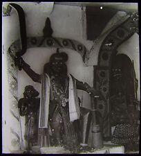 Glass Magic Lantern Slide HINDU GODS NO2 MAURITIUS C1910 PHOTO