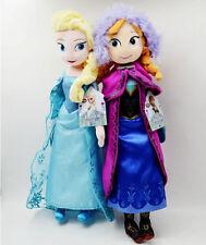 2pcs 50cm Disney Frozen Elsa&Anna princess stuffed Soft plush toy doll for/girls